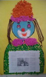 clown calender crafts
