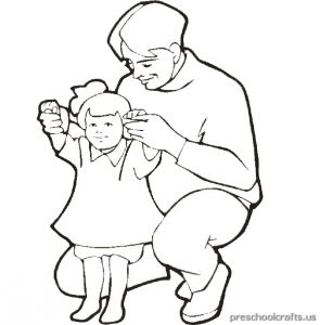 father's day coloring pages for toddler