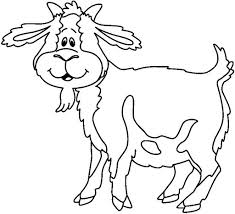 free printable Goat Coloring Pages for preschool