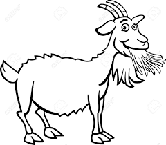 free printable Goat Coloring Pages for primary schooler