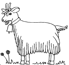 free printable Goat Coloring Pages for primary schoolers