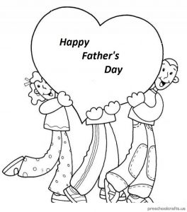 free printable world father's day for children