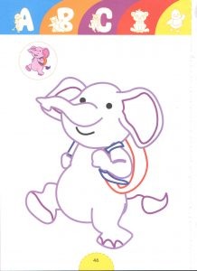 funy elephant-tale heroes coloring pages for kids