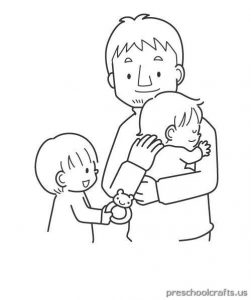 printable world father's day coloring pages for kids
