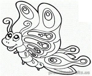 Free–printable-animals-butterfly-coloring-pages-for-firstgrade