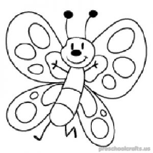Free–printable-animals-butterfly-coloring-pages-for kids