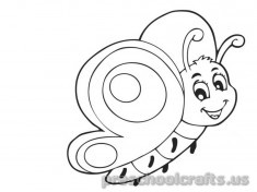 Free–printable-animals-butterfly-coloring-pages-for-kids-toddler-kindergarten