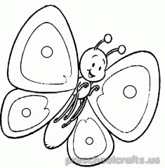 Free printable-animals-butterfly coloring-pages-for-kids