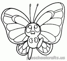 Free printable-animals butterfly-coloring-pages-for-kids