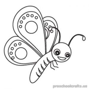Butterfly Coloring Pages for Kids - Preschool and Kindergarten