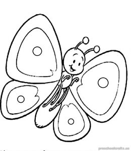 butterfly coloring pages for-kids
