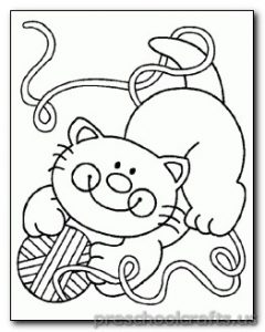 cat coloring pages for-preschool