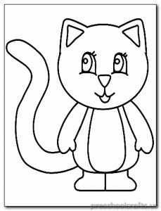 cat coloring pages for-preschooler