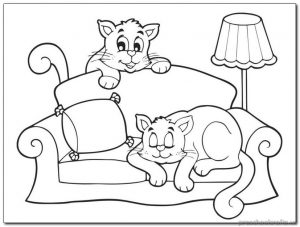 cat coloring pages-for preschoolers
