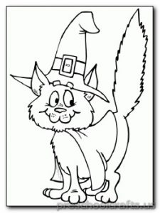 hat cat coloring pages for preschooler