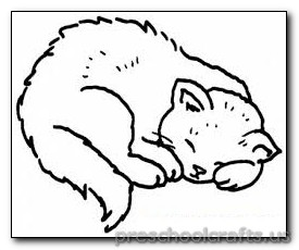 kitten coloring page-for kids