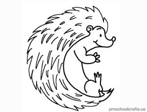 free printable hedgehog coloring pages for child