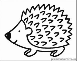 free printable hedgehog coloring pages for kids