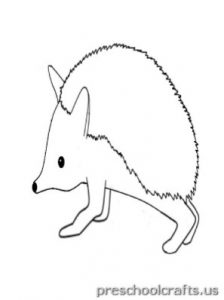 free printable hedgehog coloring pages for preschool