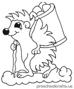 hedgehog coloring pages for preschoolers
