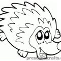 hedgehog colouring pages for toddler