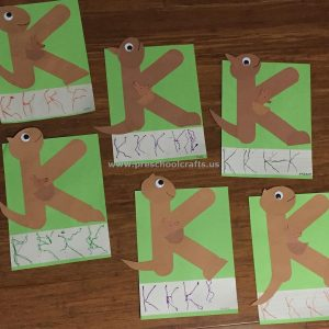 letter k crafts alphabet craft for and preschool preschool and 22893