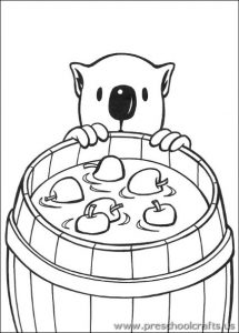 koala-and-apple-coloring-pages