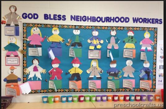labor day bulletin board idea for kindergarden