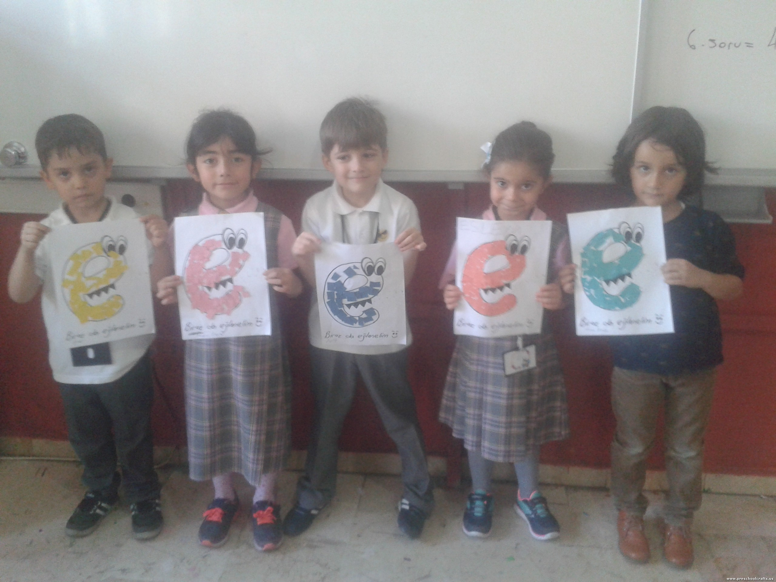 letter e craft idea for kids Preschool Crafts