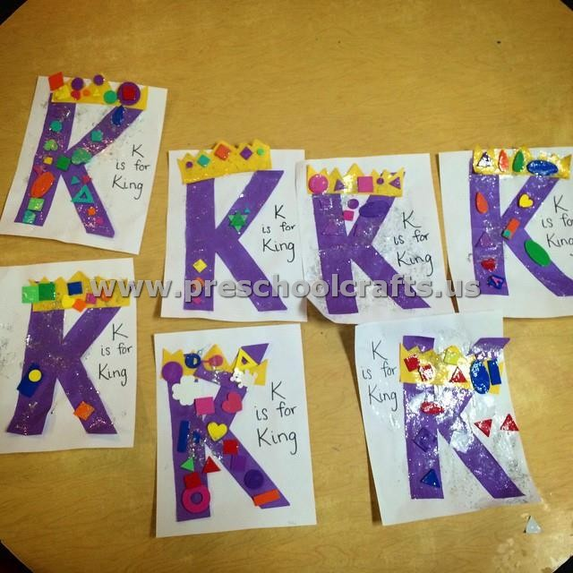 letter k crafts letter k crafts for preschool preschool crafts 37727