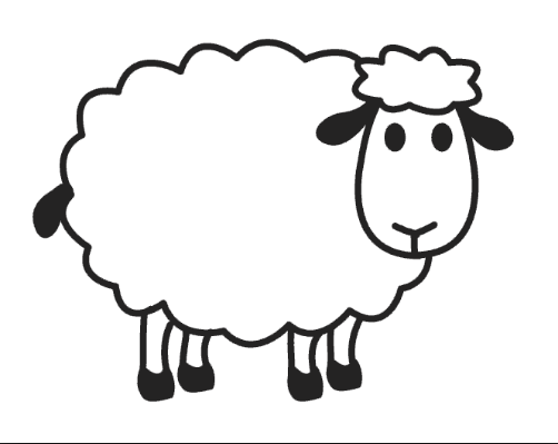 Sheep Coloring Pages for Preschool - Preschool and