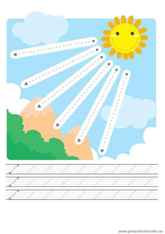 sun-trace-line-worksheets-for-kids - Preschool Crafts