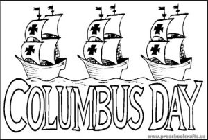 Columbus Day Coloring Pages - 1492-christoper-columbus-day-coloring-page-kindergarten