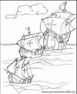 Columbus Day Coloring Pages For Kids Preschool And