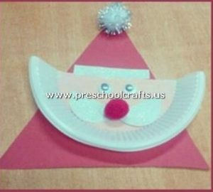 santa-claus-craft-from-paper-plate