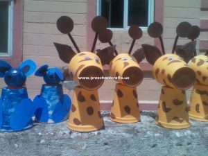 dog-craft-and-giraffe-craft-from-paper-cup