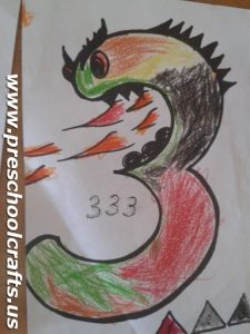 dragon-three-coloring-pages-for-kindergarten