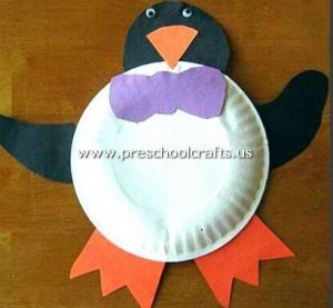 free-penquin-craft-from-paper-plate