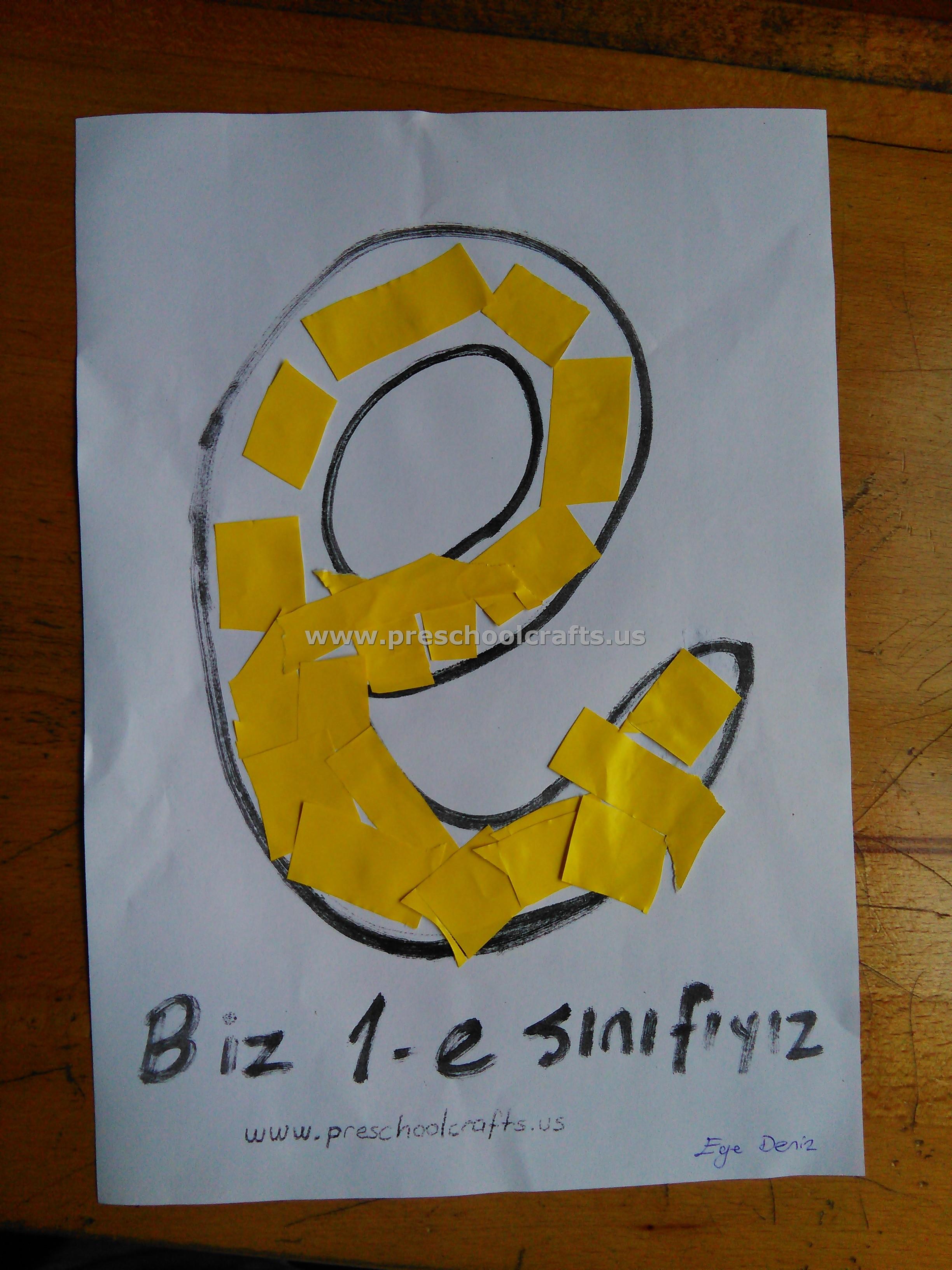 letter e crafts ideas for kid Preschool Crafts
