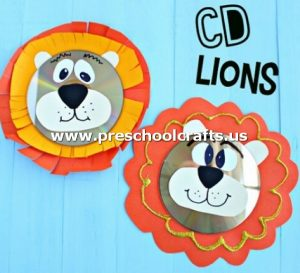 lion-craft-idea-from-cd-for-kids