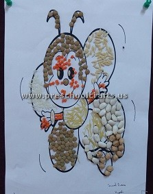 make-bee-using-beans-for-kindergarten