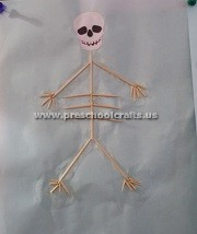 making-skeleton-with-ear-sticks