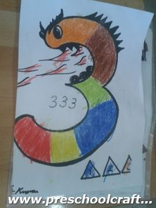 number-three-coloring-page