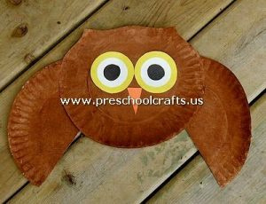 owl-craft-from-paper-plate