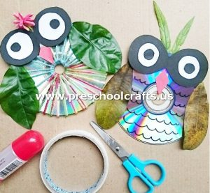 owl-craft-idea-from-cd-for-kids