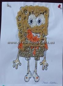 preschool-bean-mosaic-sponge-bob