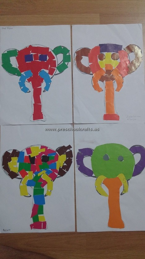 elephant crafts ideas for kids and preschool