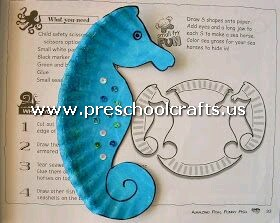 seahorse-craft-from-paper-plate