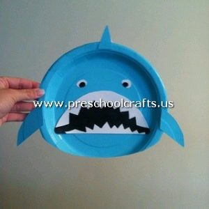 shark-craft-from-paper-plate-for-kids