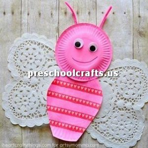 butterfly-craft-idea-with-paper-plate-for-preschool